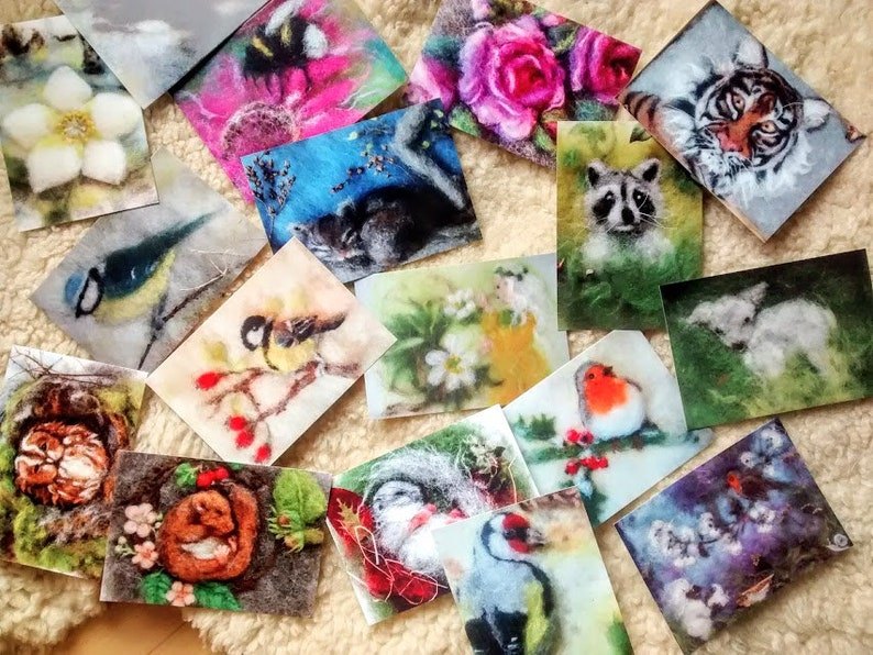 Postcard set of 3 cards of your choice image 0