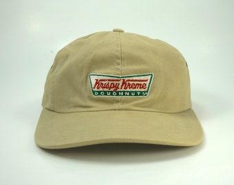 c508585abf22b Vintage Krispy Kreme Doughnuts Beige Dad Hat