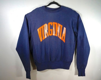 a5326031d7b72 Vintage University of Virginia Crewneck Sweatshirt Blue Sweater