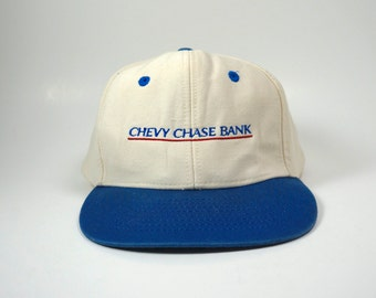 5b2ceb9db6977 Vintage Chevy Chase Bank Dad Hat