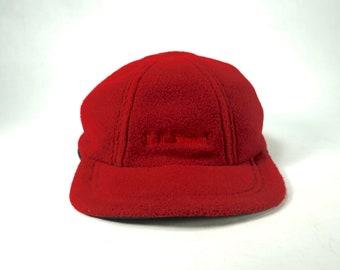 Vintage LL Bean Fleece Lined Flap Hat Cap 14b4c1714476