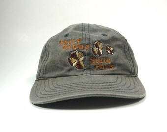 Fairy Stone State Parks Adjustable Strapback Baseball Cap  b030d91dd1db