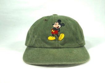 7713bbfc9d31c Vintage Disney Mickey Mouse Distressed Dad Hat Baseball Cap