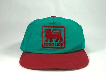 59245b6d33f69 Vintage Food Lion Adjustable Snapback Hat Cap