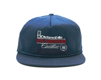 Vintage Oldsmobile Cadillac Embroidered Strapback Hat f1a3dc61c2a