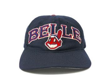 28790378d72 Vintage Starter Cleveland Indians Albert Joey Belle Adjustable Snapback Hat  Cap