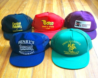 009c43228df Vintage Trucker Hat Lot Variety