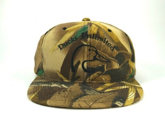 77b65cc6651 Vintage Ducks Unlimited DU Camo Snapback Hat