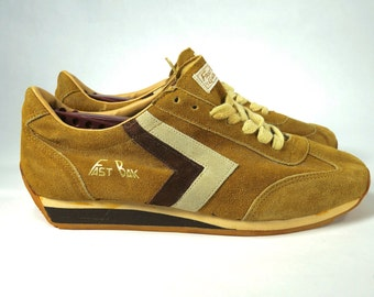 new concept 1aaee 7112e Vintage C.R. Anthony s Fast Bak Running Tan Suede Sneakers 70 s 80 s Rare  Sz 9.5