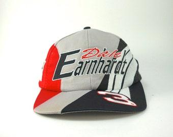 Vintage Dale Earharnhardt Color Block  3 Hat Cap with Adjustable Snapback  Hat e143df27fdc
