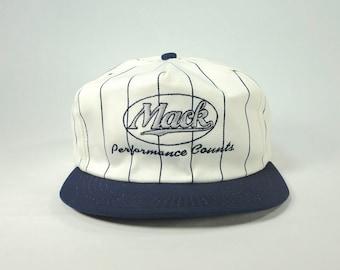 Vintage Mack Trucks Script Spell Out Snapback Hat 68e0f5a754c5