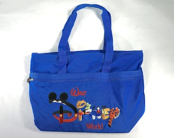 f8bf32f30e3 Vintage Walt Disney World Large Tote Bag Vintage Blue 14