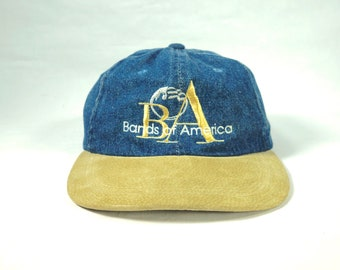 85ab0d4419f49 Vintage Denim Bands Of America Two Tone Dad Hat