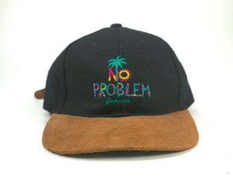 61a710e4e85 Vintage No Problem Jamaica Two Tone Dad Hat