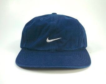 3041413ed54 Nike Swoosh Blue Adjustable Strapback Baseball Cap