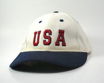 d2fd6aeb564 VTG USA Olympics Cap Adjustable Strapback Dad Hat