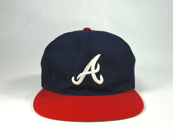 Vintage Atlanta Braves Snapback Hat Cap f313b1309ac