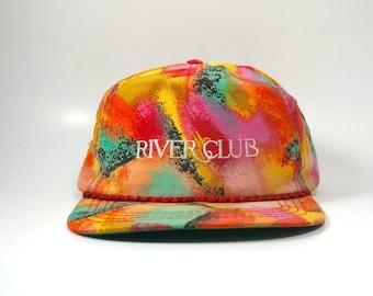 Vintage River Club Pastel Pattern Adjustable Strapback Hat Cap 2d486e37bb2d
