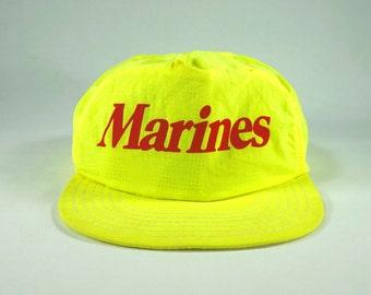 5a6221e76f915 Vintage Marines USMC 90s Baseball Hat Cap Snapback