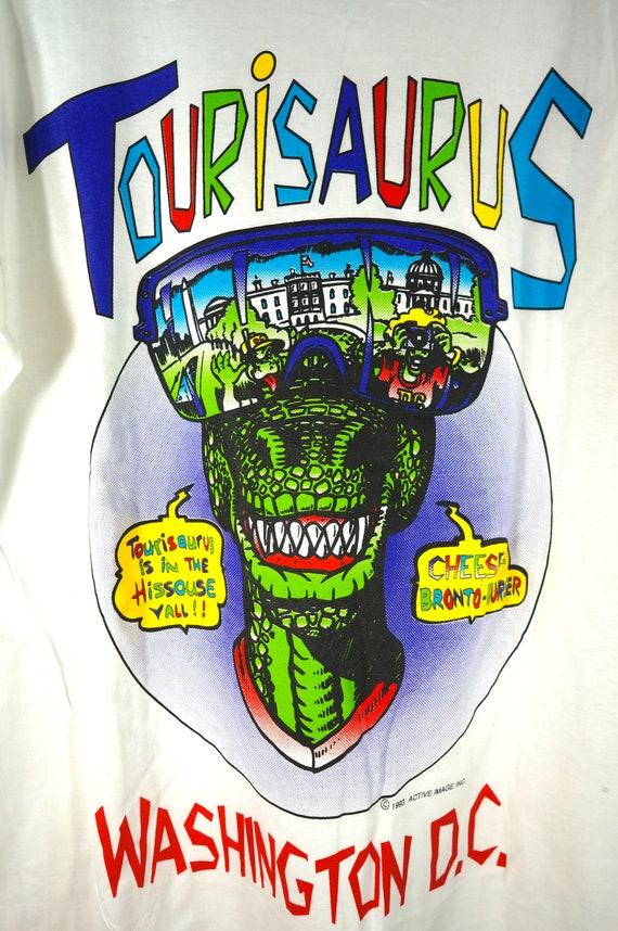 VTG Tourisaurus Washington DC Tourist T Shirt, 90… - image 2