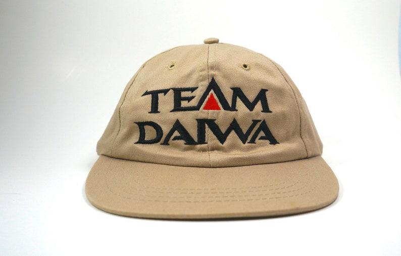 Vintage Team Daiwa Beige Dad Hat Khaki Fishing Baseball Cap  c6603642116a