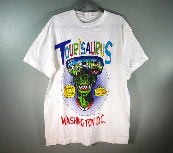 VTG Tourisaurus Washington DC Tourist T Shirt, 90s