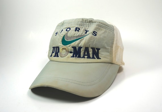 d0df73366ee VTG 90s Nike Sports PRO-MAN Adjustable Snapback Baseball Cap