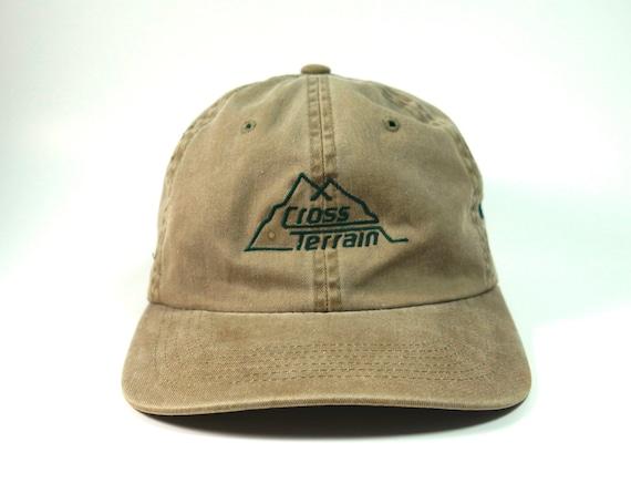 Cross Terrain Vtg Khaki Dad Hat Michelin Baseball Cap  9297e12fae1e