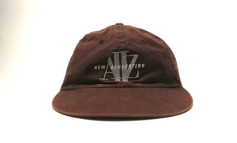 Vtg A II Z New Generation Dad Hat Distressed Brown Baseball  edc15a54c241