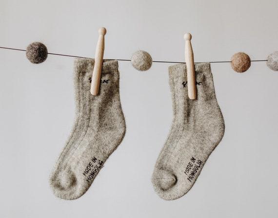Yak wool kids socks grey  b4c601e44d72