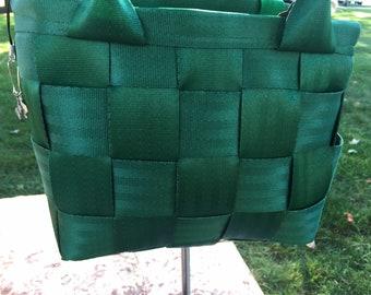 Medium Kelly Green Seatbelt handbag