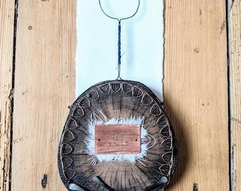 Medium Wall Hanging 'New home, Old souls' // WoodSlice Art