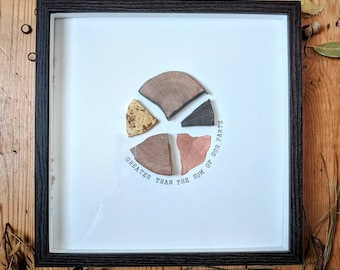 Greater than the Sum of our Parts// Framed Wood-slice Wall Art