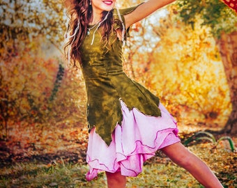 Rose Fairy Dress, Adult Fairy Costume, Elvish Clothing, Festival Outfit, Theater Costume, Halloween Costume, Renaissance Costume, Faery