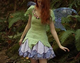 Zinnia Fairy Dress, Adult Fairy Costume, Elvish Clothing, Festival Outfit, Theater Costume, Halloween Costume, Renaissance Costume, Faery