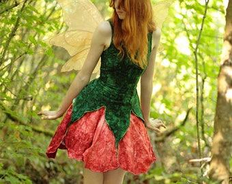 Pansy Fairy Dress, Adult Fairy Costume, Elvish Clothing, Festival Outfit, Theater Costume, Halloween Costume, Renaissance Costume, Faery
