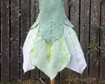 Leaf Fairy Dress, Adult Fairy Costume, Elvish Clothing, Festival Outfit, Theater Costume, Halloween Costume, Renaissance Costume, Faery