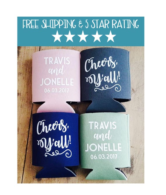 Cheers Yall Wedding Can Coolers Wedding Can Coolers Etsy