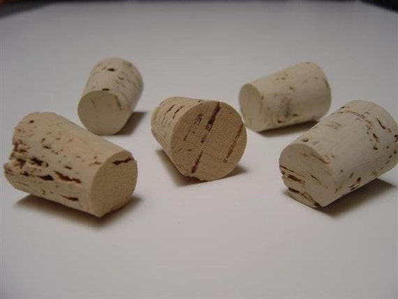 Choice of Quantity Inches Size 5 Tapered Cork Stopper Top  1116 x Point 1732 x 78 Length