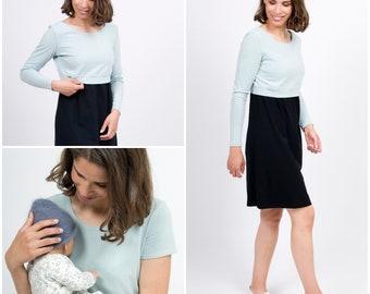 Kleider Sporting 2in1 Umstandskleid Mit Stillfunktion Stillkleid Sommerkleid Kleid Modell Latika