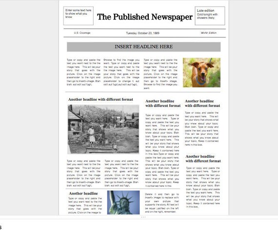 Google Doc Newspaper Template | Etsy
