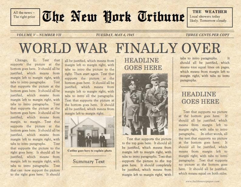old fashioned newspaper template mac