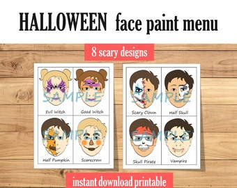 Face Paint Blank Faces Pack Of 18 Face Template Printable Etsy