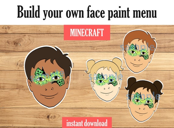 Face Paint Minecraft Includes Variations And Face Paint Etsy