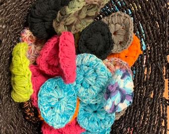 Crochet face scrubbies-makeup scrubbies