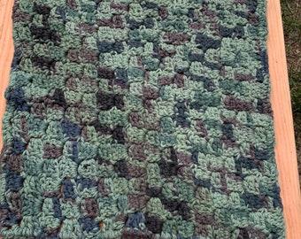 Crochet washcloth, extra large, dishcloth, dish rag