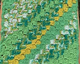 Extra Large crochet scrubby washcloth, dishcloth, dish rag