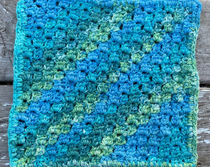 Crochet cotton dishcloth