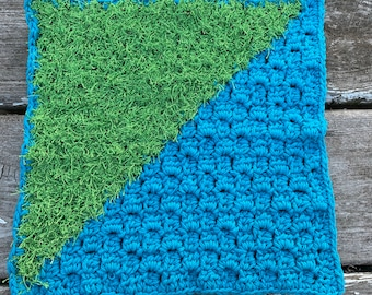 Crochet dishcloth with scrubby!