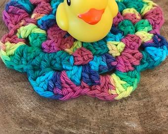 100% cotton crochet washcloth-child's size